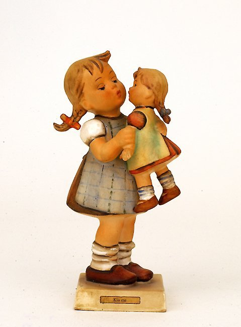 1004: Goebel Hummel Kiss Me Girl Baby Figurine
