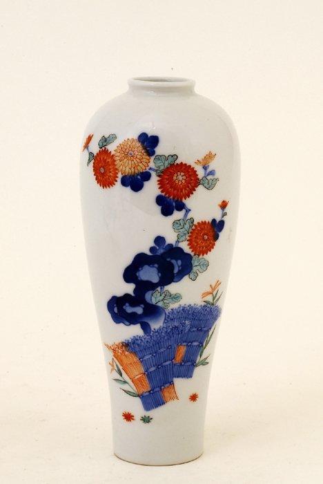 345: Old Japanese Koransha Imari Fukagawa Vase Mk