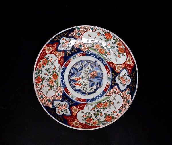 355: Old Japanese Imari Charger Garden Scene
