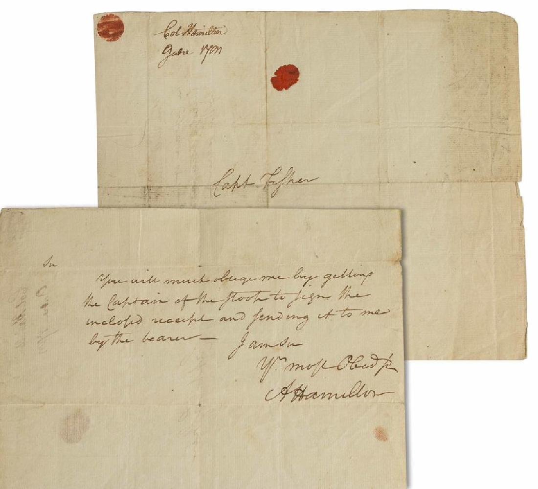 Alexander Hamilton Signed Revolutionary War Document,