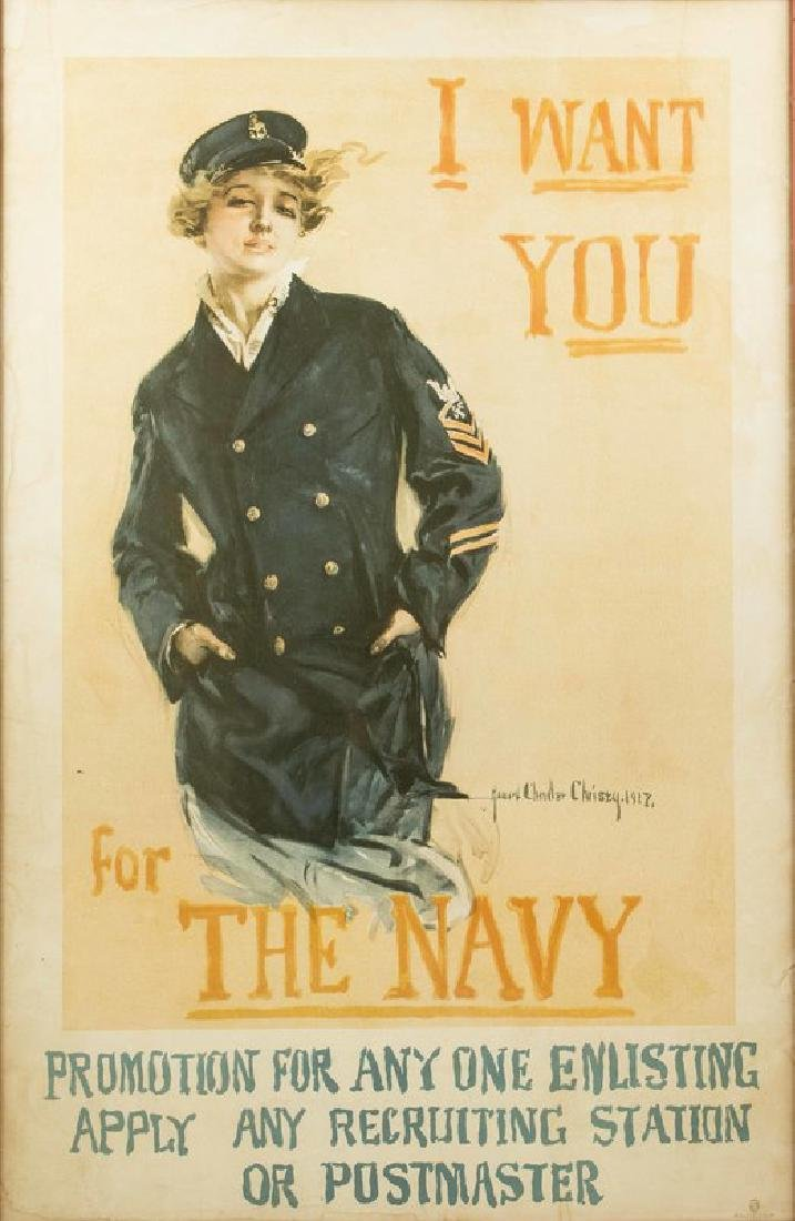 """Howard Chandler Christy """"I Want You"""" Navy Poster"""