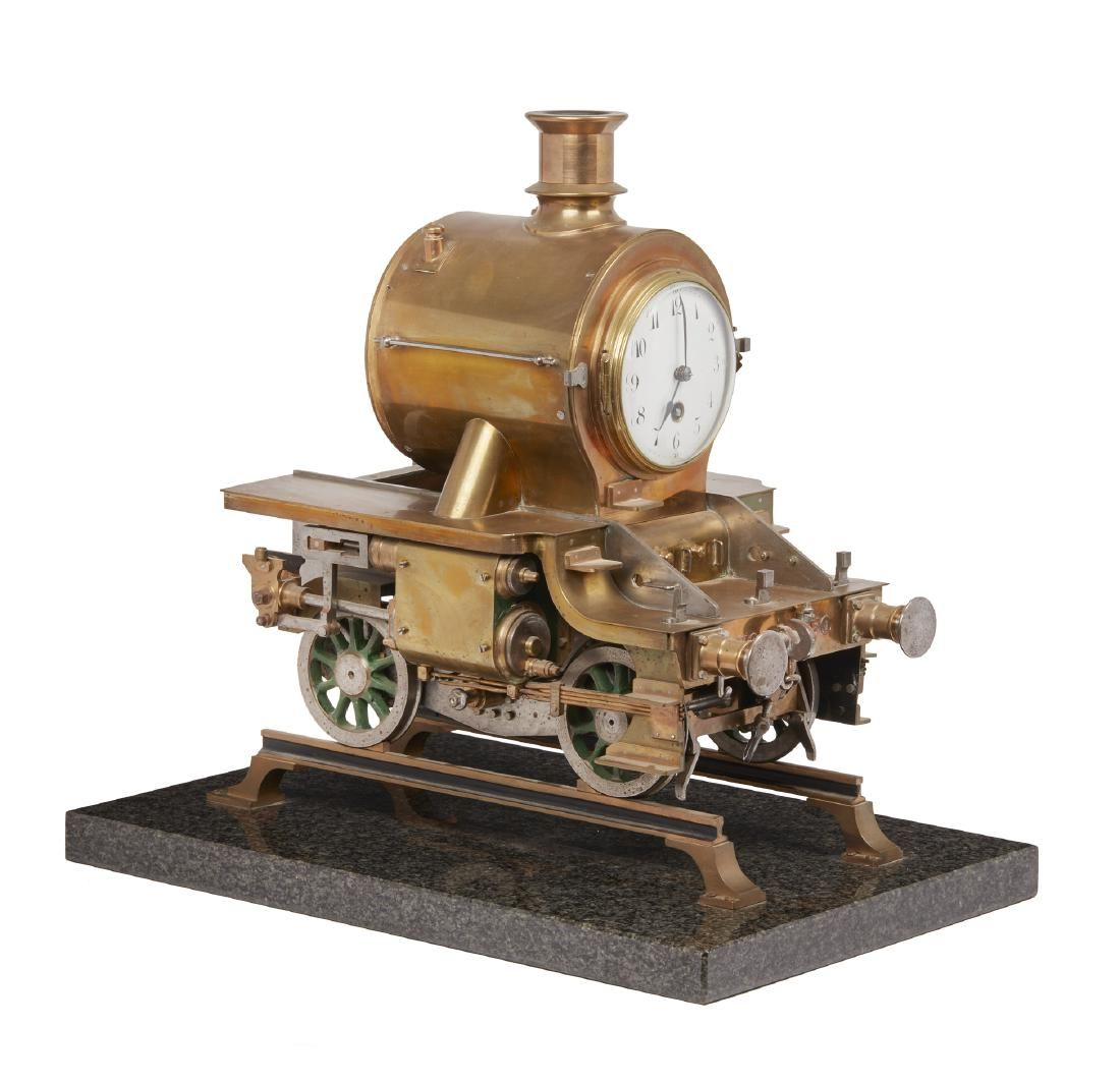 Industrial Style Locomotive Clock