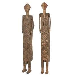 Pair of Ngata Anthropomorphic Coffins