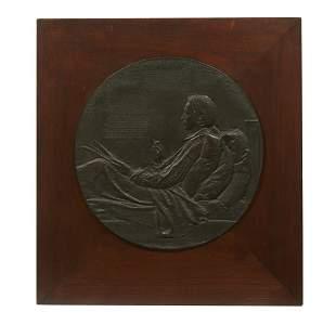Augustus Saint-Gaudens (1848-1907) Bronze Portrait,
