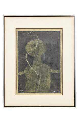 "Rufino Tamayo (1899-1991) Colored Mixograph, ""Figura en"