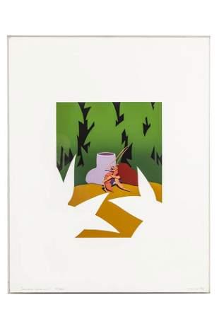 "Ken Price (1935-2012) Silkscreen, ""Hermit Crab Clip"""