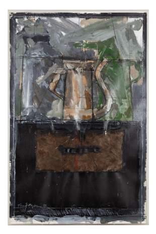 """Tony Hepburn (b. 1942) Acrylic and Charcoal """"Still"""