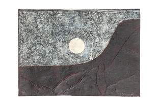 "Rufino Tamayo (1899-1991) Mixograph, ""Paysage con Luna"""