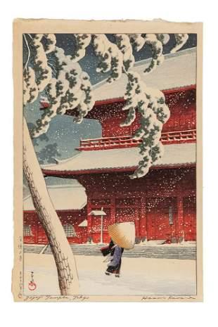 Kawase Hasui (Japanese, 1883-1957) Color Woodblock