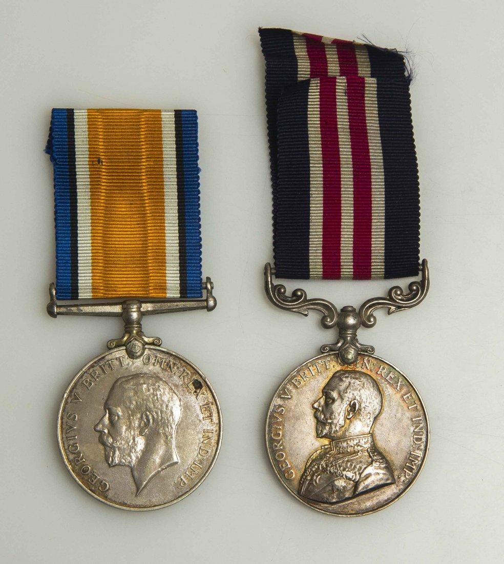 British WWI Military Medal and British War Medal