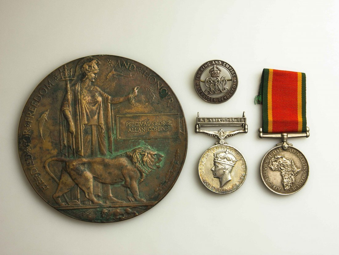 Mixed British Lot With Death Plaque and Research