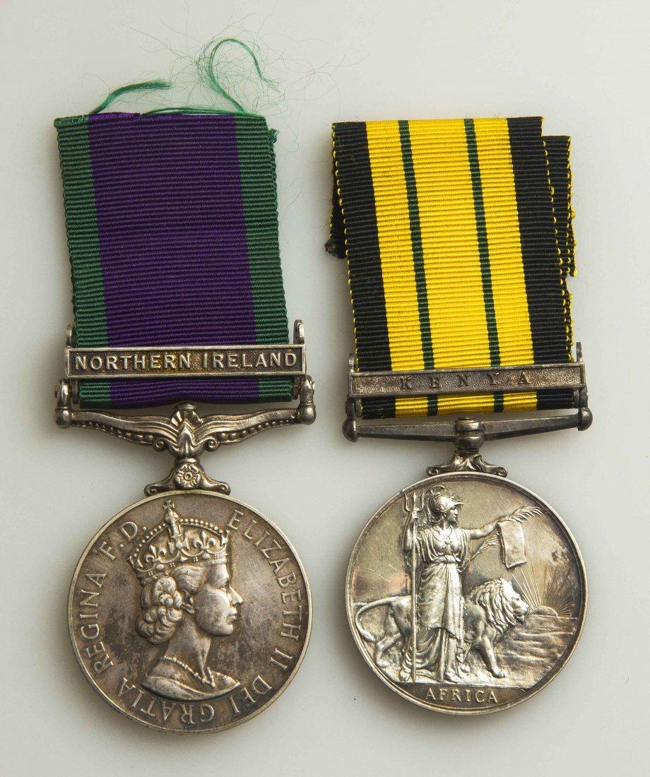 2 Elizabeth II British Campaign Medals