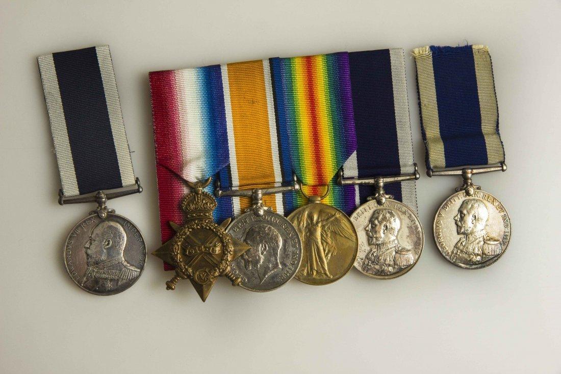 Royal Navy Long Service/Good Conduct Group &  2 Single