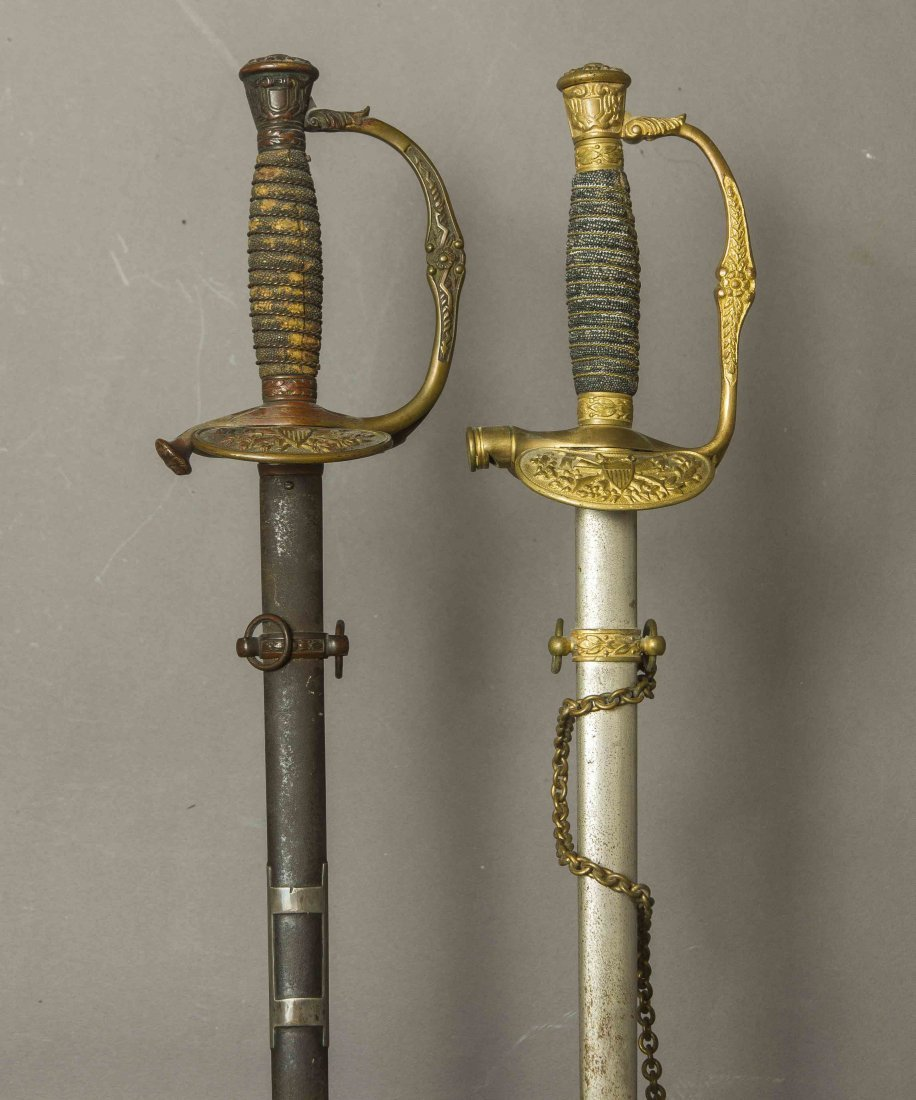 2 U.S. Model 1860 Staff and Field Officers Swords: 1