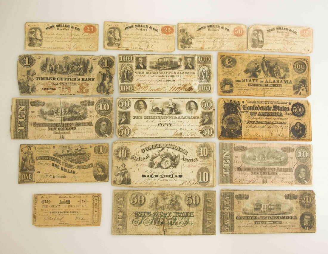 Collection of Civil War and Earlier Paper Currency