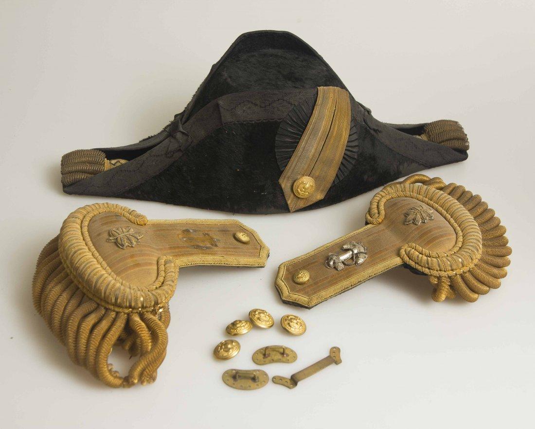 U.S. Navy Commander's Cocked Hat and Cased Epaulets