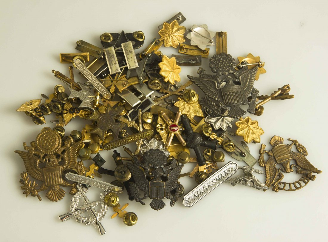 Large Lot of Various U.S. WWII and Earlier Badges and