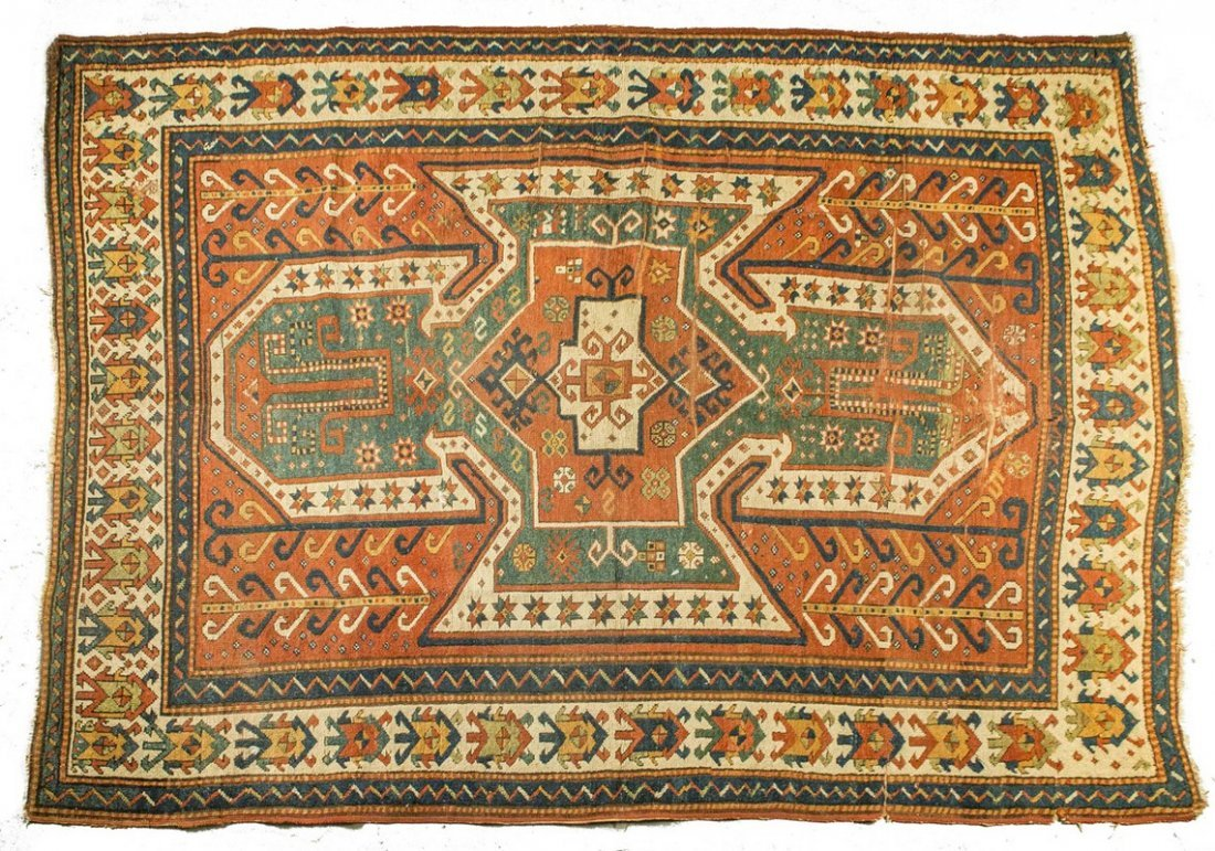 Oriental Rug From The Caucasus & 2 Research Books