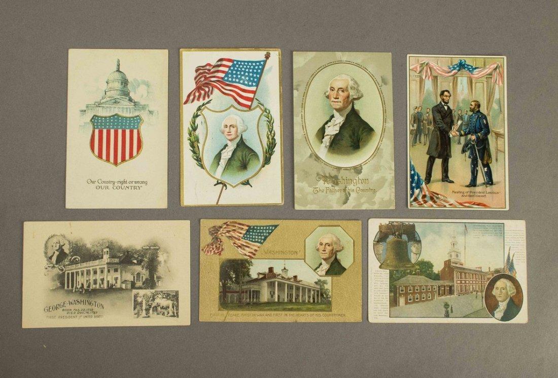 7 Abraham Lincoln & George Washington Post Cards