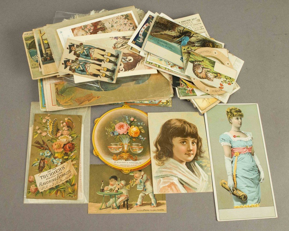 Large Collection Assorted Trade Cards