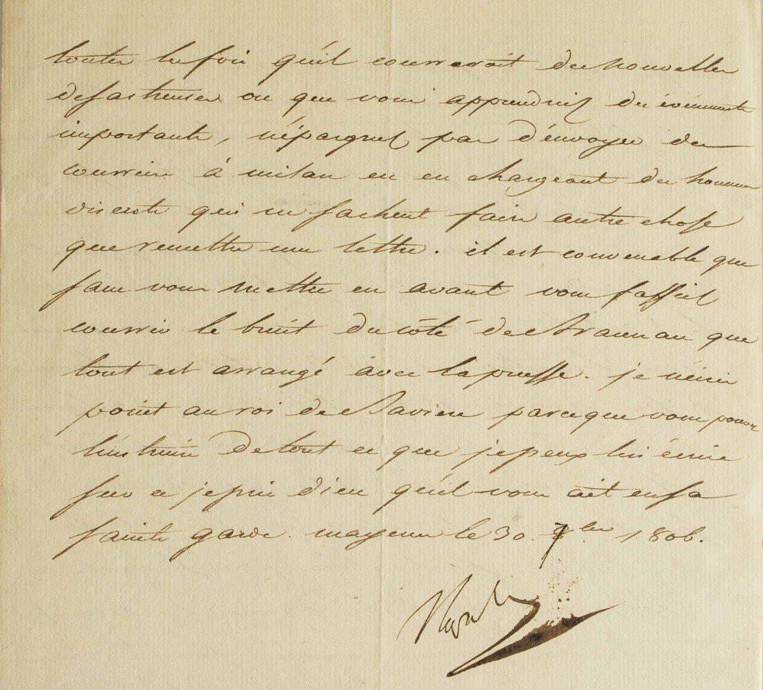 Napoleon I (1769-1821) Signed Letter - 4