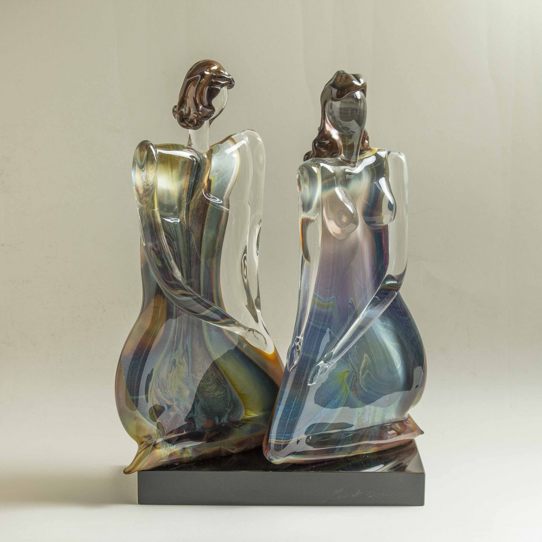 Oscar Zanetti (b. 1961) Murano Glass Sculpture