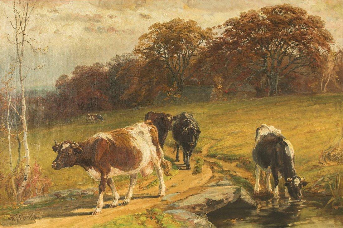John Monks (1850-1917) Painting