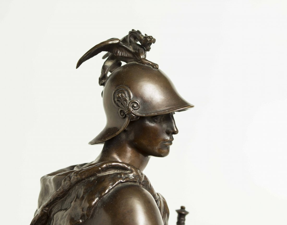 "Paul Dubois (1829-1905) Bronze ""Tribunal"" - 10"