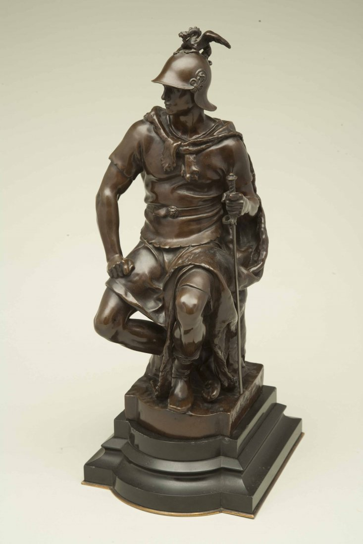 "Paul Dubois (1829-1905) Bronze ""Tribunal"" - 2"
