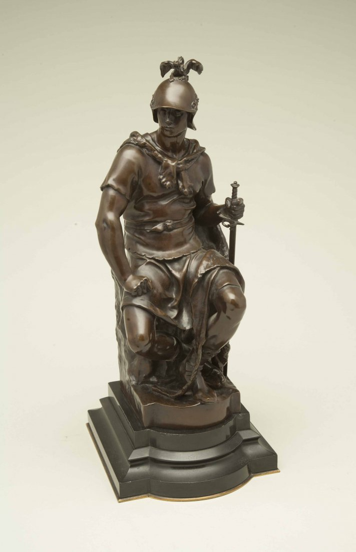 "Paul Dubois (1829-1905) Bronze ""Tribunal"" - 3"