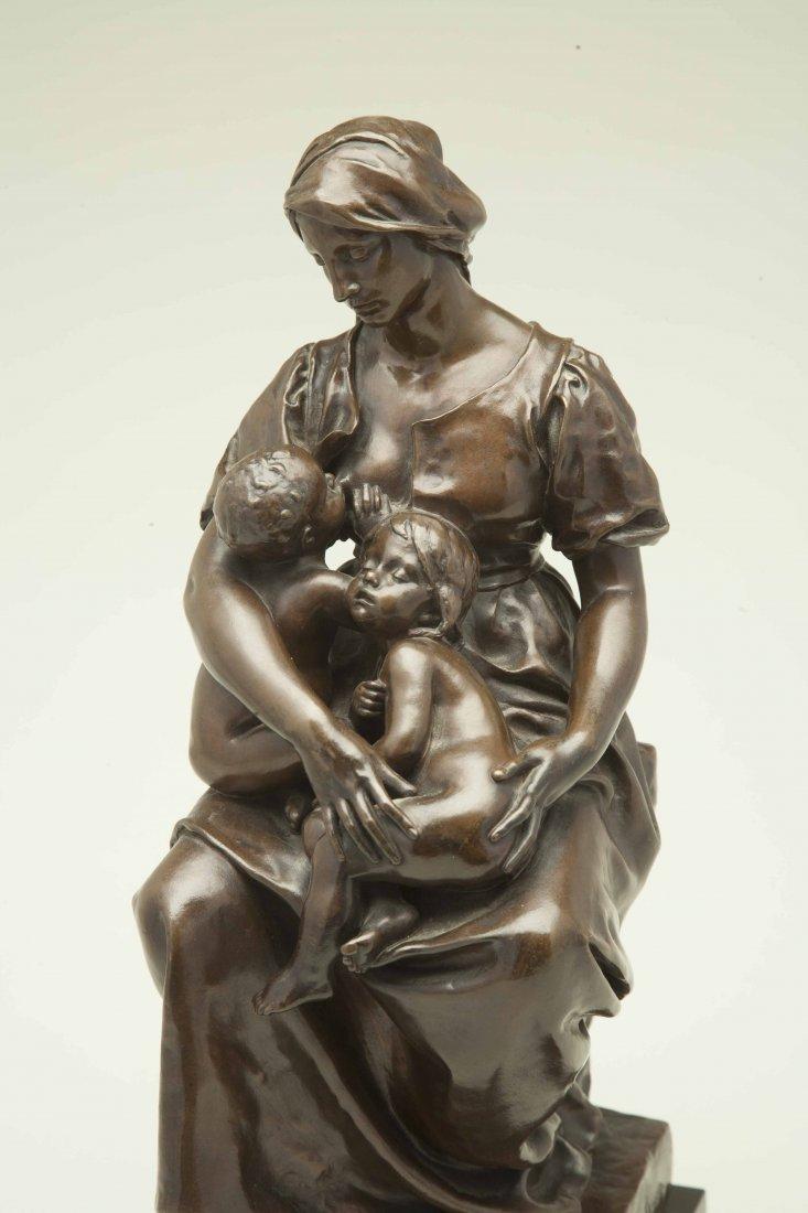"Paul Dubois (1829-1905), Bronze ""Maternite"""