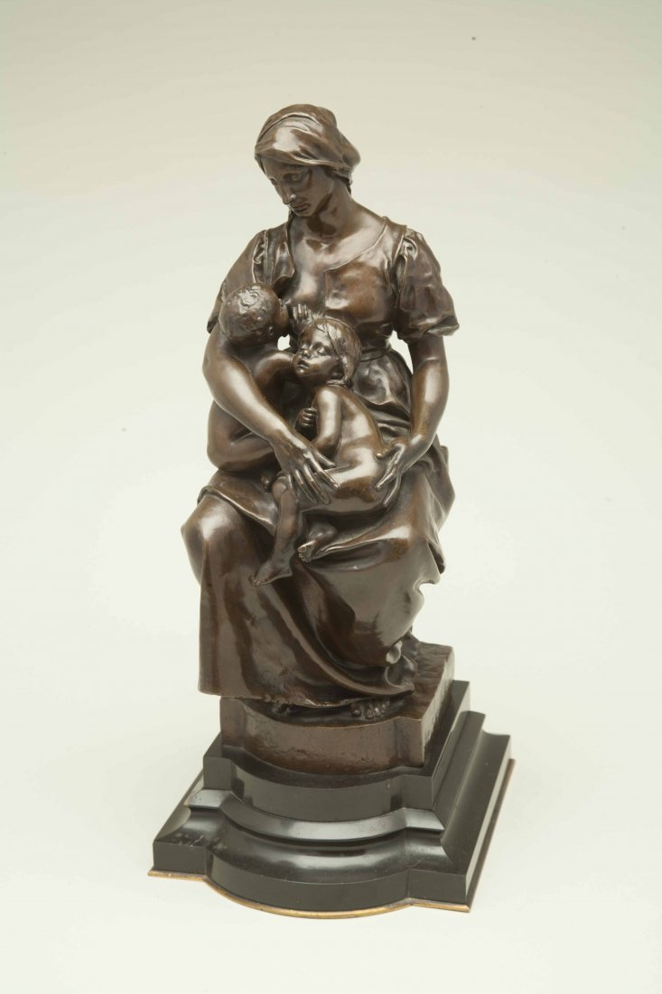 "Paul Dubois (1829-1905), Bronze ""Maternite"" - 2"