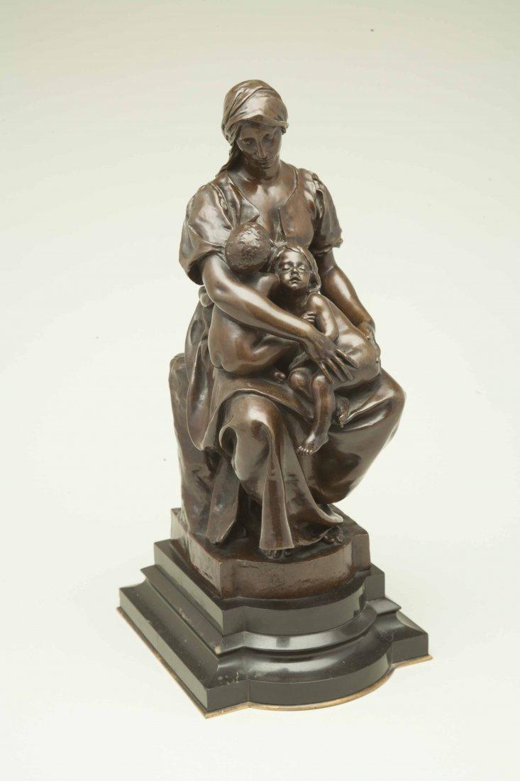 "Paul Dubois (1829-1905), Bronze ""Maternite"" - 3"