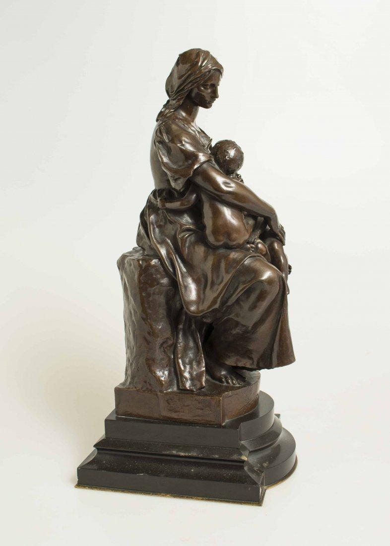 "Paul Dubois (1829-1905), Bronze ""Maternite"" - 5"