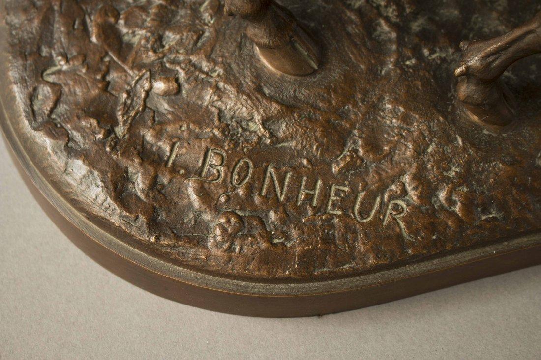 "Isidore Bonheur (1827-1901) Bronze, ""Vachette et - 2"