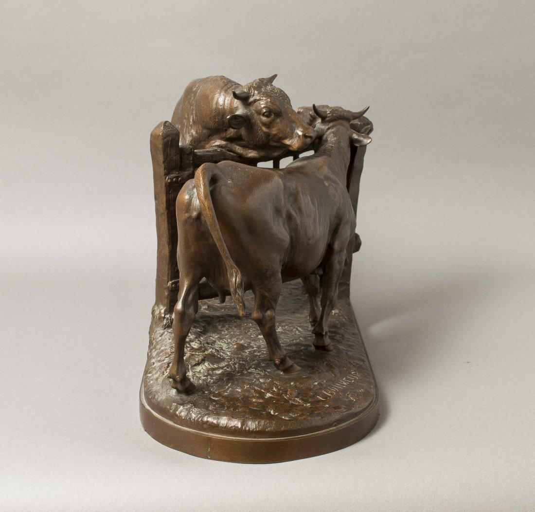 "Isidore Bonheur (1827-1901) Bronze, ""Vachette et - 7"