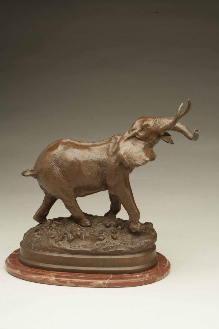 Alfred Bayre (1839-1882) Bronze Elephant
