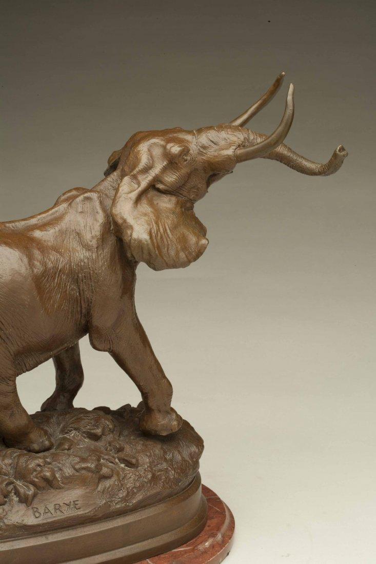 Alfred Bayre (1839-1882) Bronze Elephant - 6