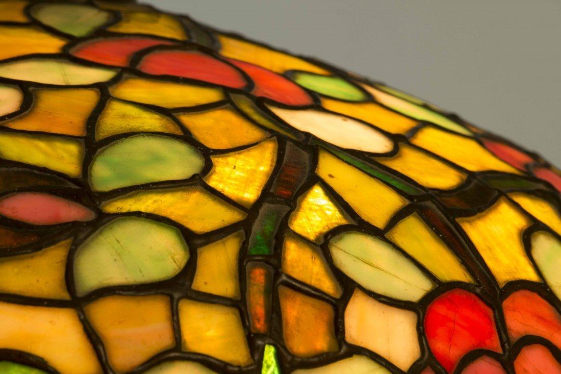 Art Nouveau Bronze Lamp, Attrib. Chicago Mosaic Lamps - 3