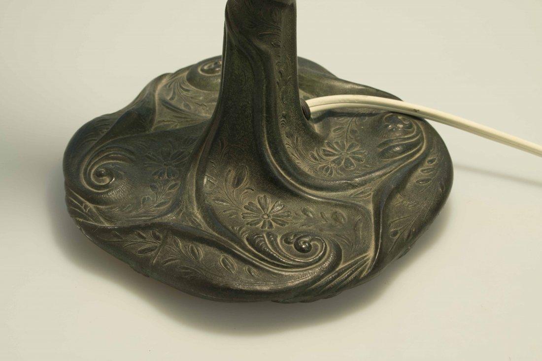 Art Nouveau Bronze Lamp, Attrib. Chicago Mosaic Lamps - 7