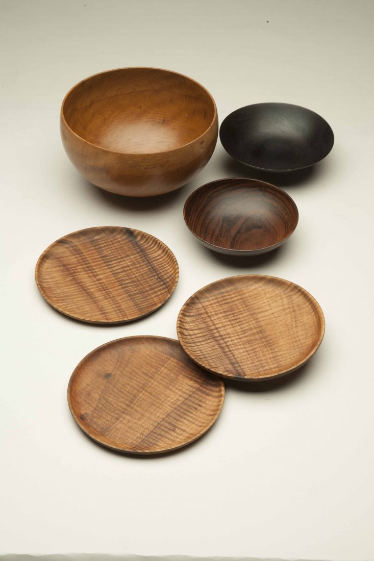Bob Stocksdale (1913-2003) Wood Plates and Bowls - 2