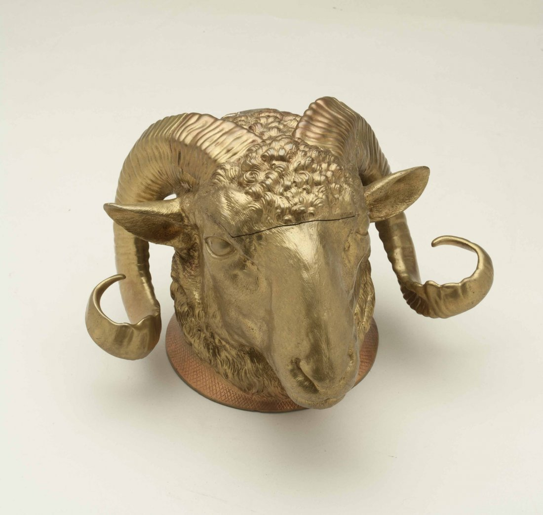 Gilt Bronze Ram Humidor
