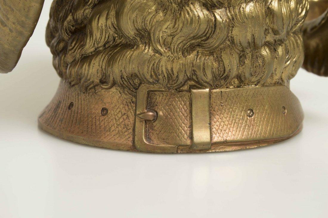 Gilt Bronze Ram Humidor - 6