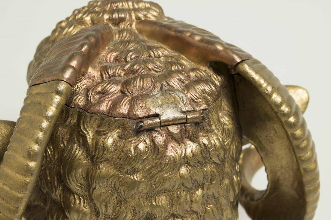Gilt Bronze Ram Humidor - 7