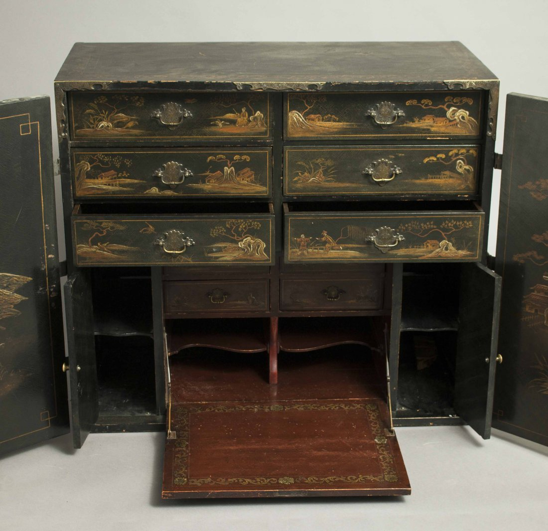 Chinoiserie Lacquer Chest - 5