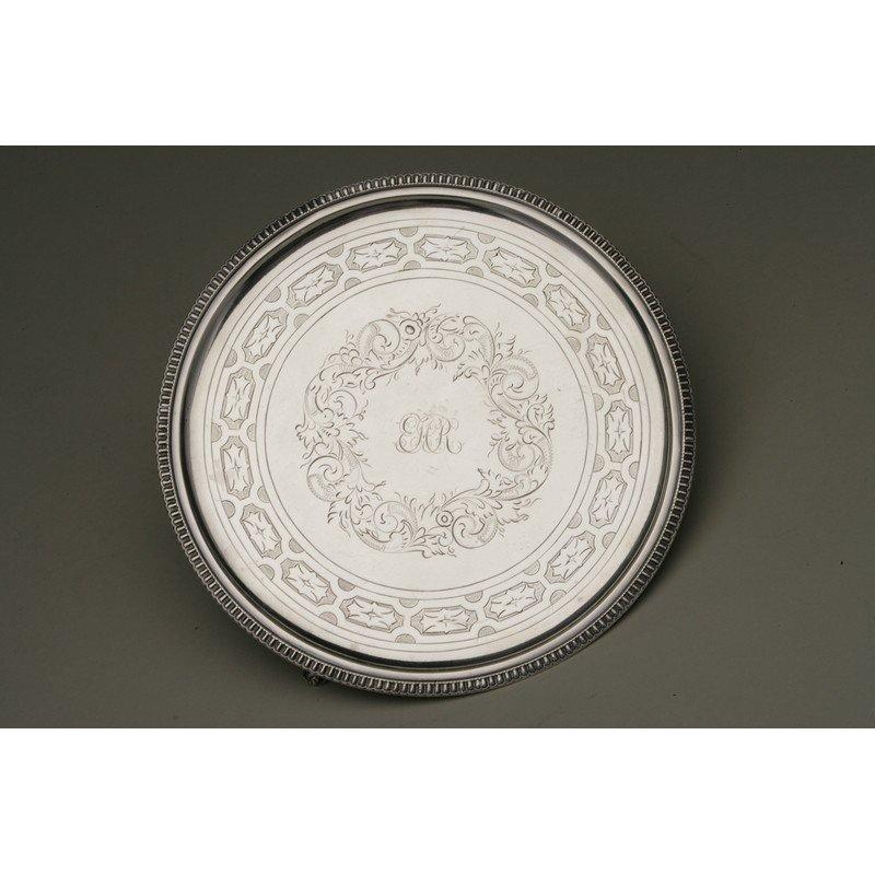 Shreve & Co. (1852-Present) Coin Silver Tray