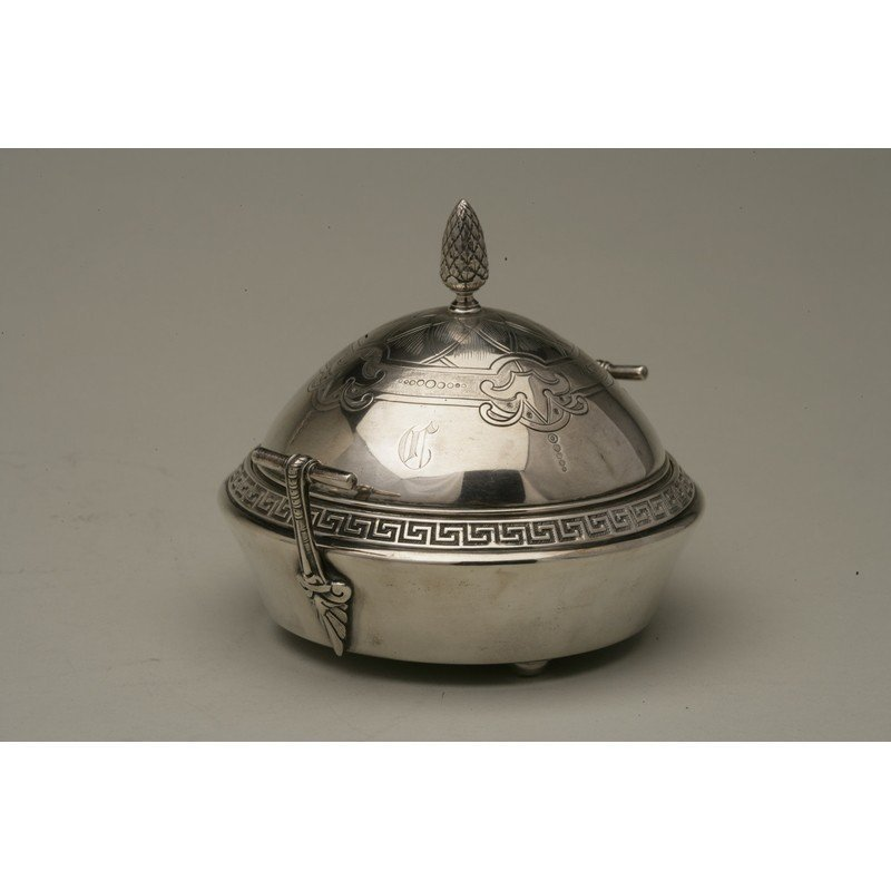 Vanderslice & Co (1858-1908) Silver Covered Butter Dish - 2