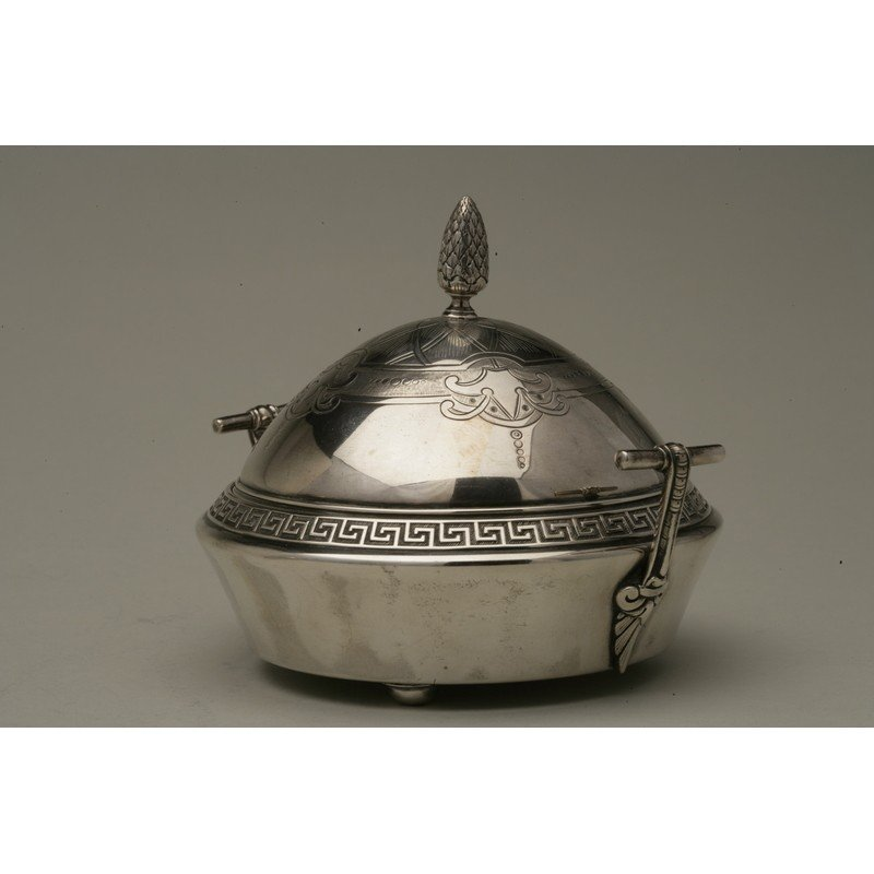 Vanderslice & Co (1858-1908) Silver Covered Butter Dish - 3
