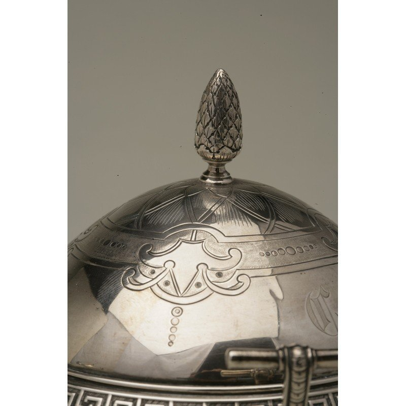 Vanderslice & Co (1858-1908) Silver Covered Butter Dish - 5