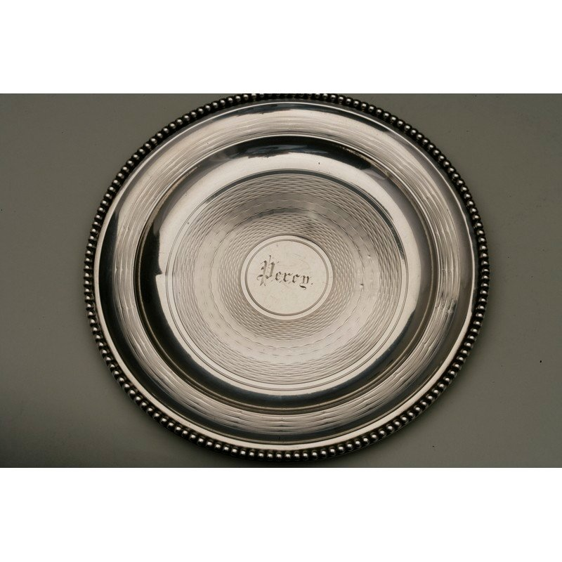 Vanderslice & Co.(1858-1908)  Two Silver Bread Plates